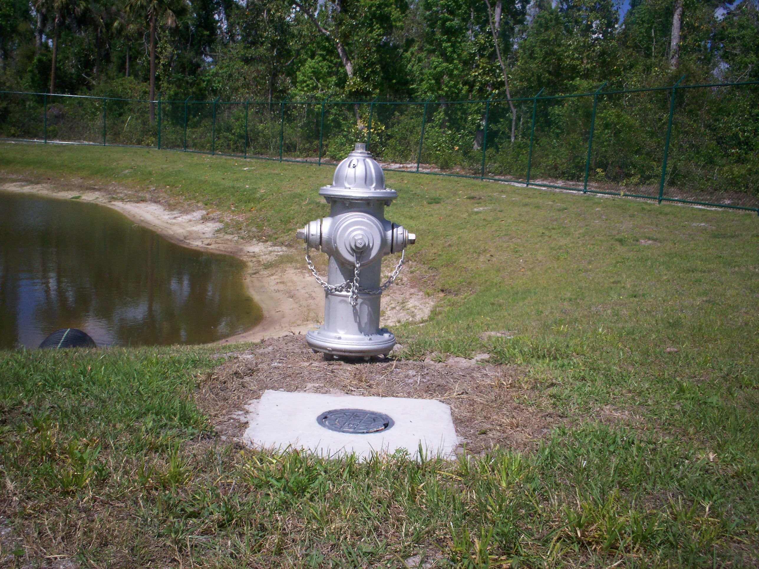 Water Hydrant Near Pond