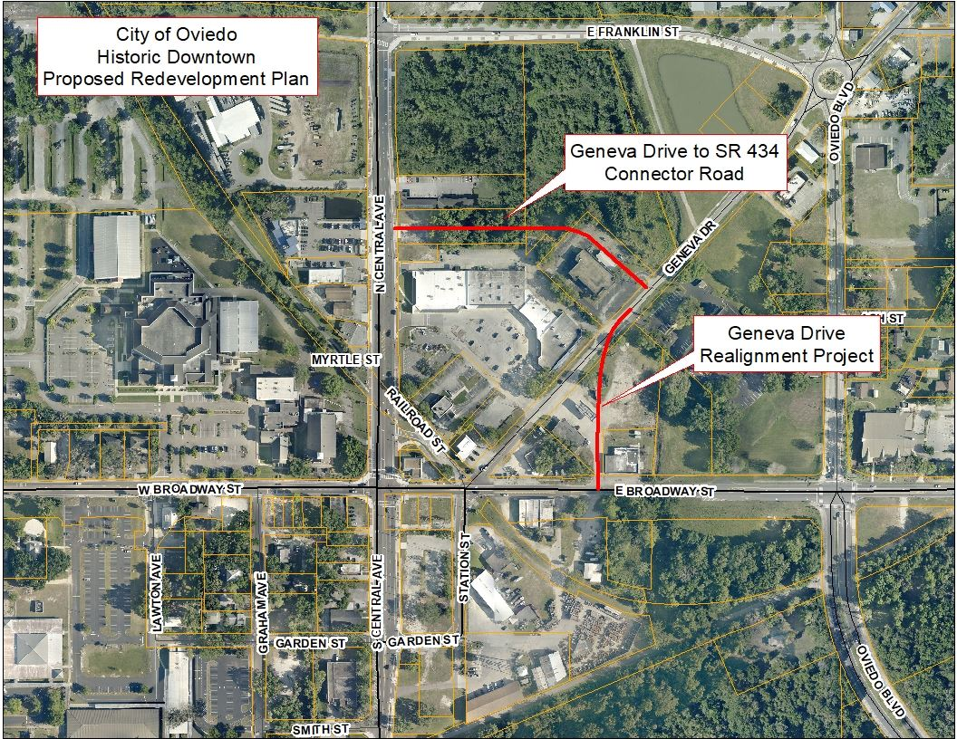 Map of Geneva Drive Realignment