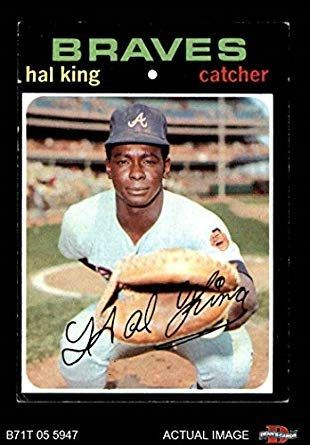 Picture of Hal King baseball card with Atlanta Braves.