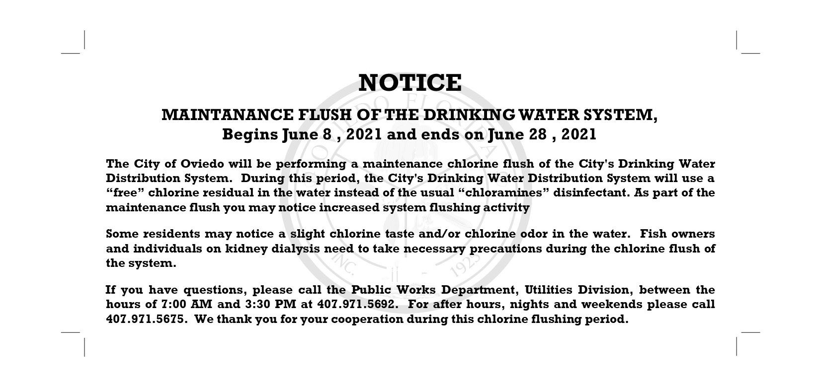 Maitenance Flush notice 2021 with flushing1
